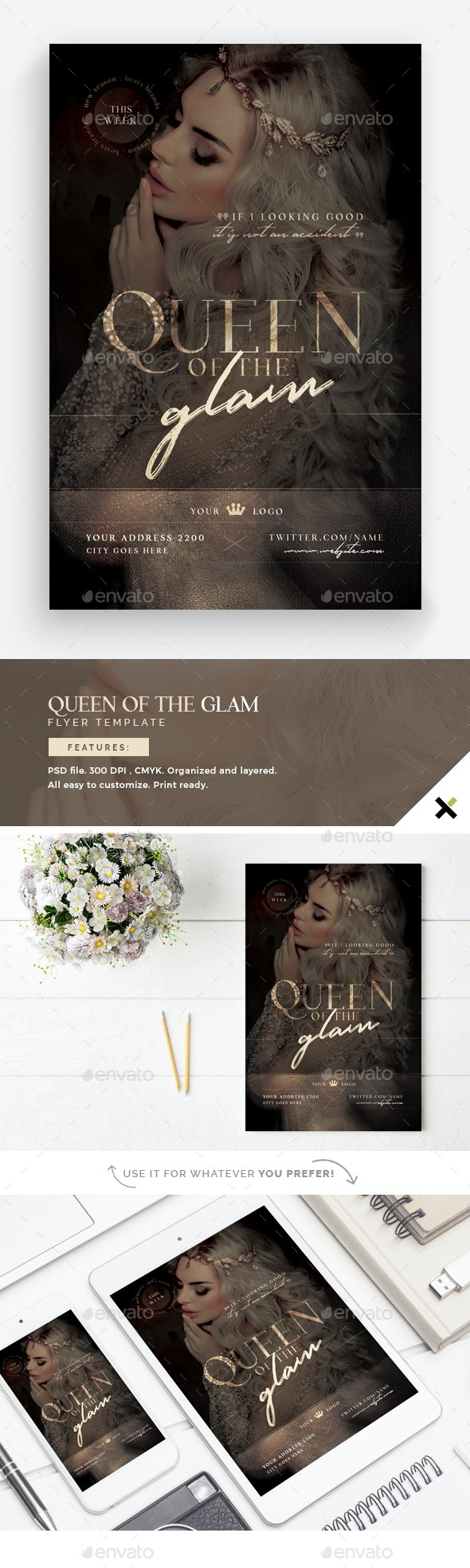 Queen Of The Glam Flyer Template - Events Flyers
