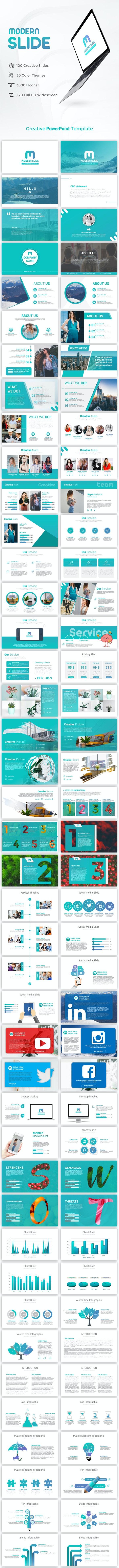 Modern Slide PowerPoint Presentation Template - PowerPoint Templates Presentation Templates