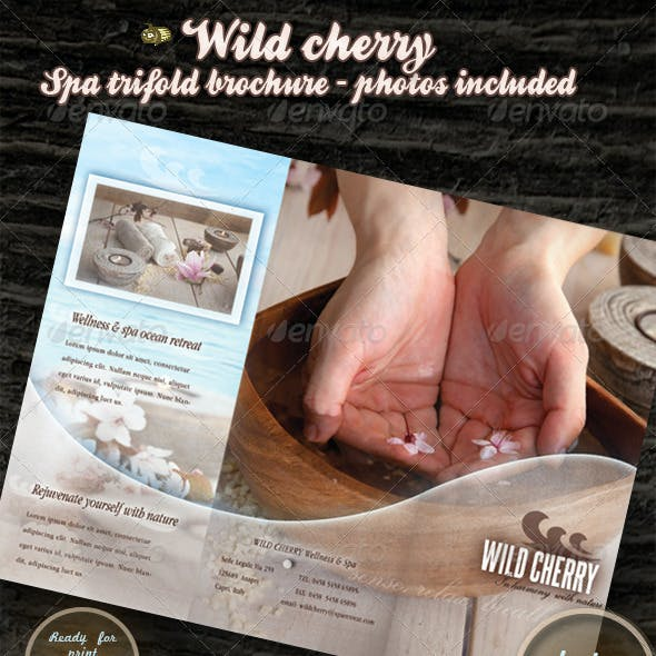 Wild cherry - spa & wellness trifold brochure