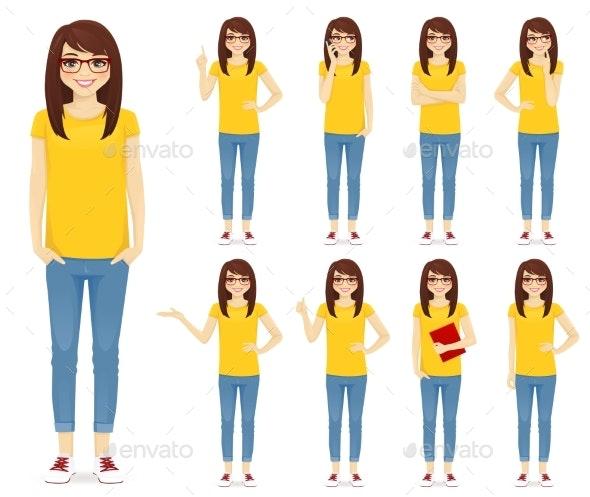 Teenage Girl Set - Miscellaneous Vectors