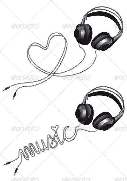 I Love Music, Vector - Man-made Objects Objects