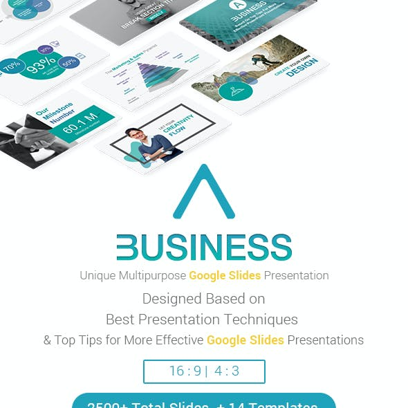 A Business Strategy Google Slides Theme Presentation Template