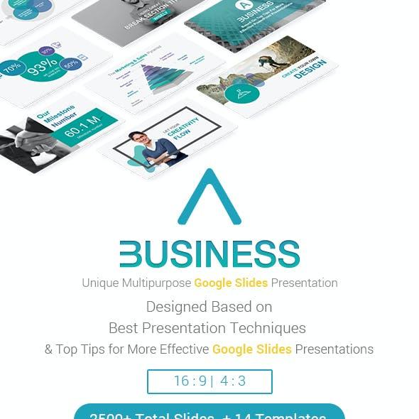 A Business Strategy Google Slides Theme Presentation Template