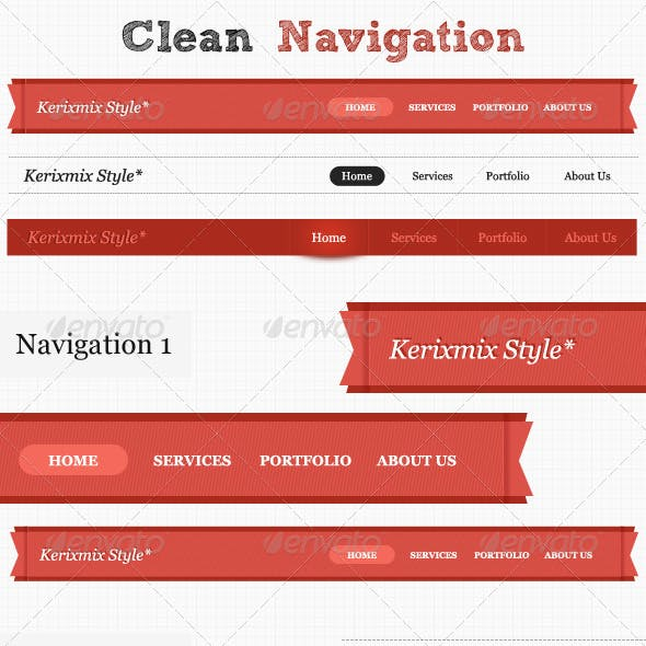 Clean Website Navigation + Pagination
