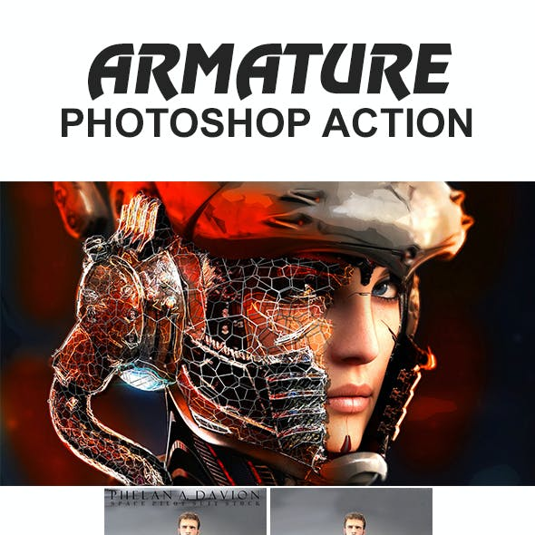 Armature Photoshop Action