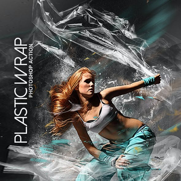 Plastic Wrap Photoshop Action