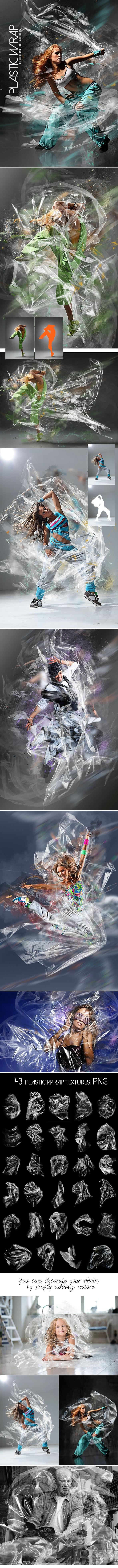 Plastic Wrap Photoshop Action - Photo Effects Actions
