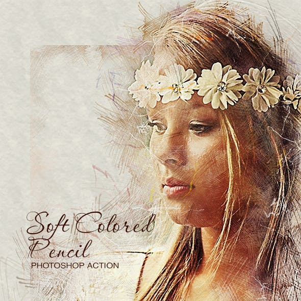 Soft Colored Pencil Photoshop Action