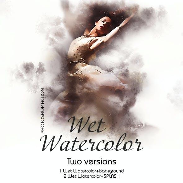 Wet Watercolor Photoshop Action