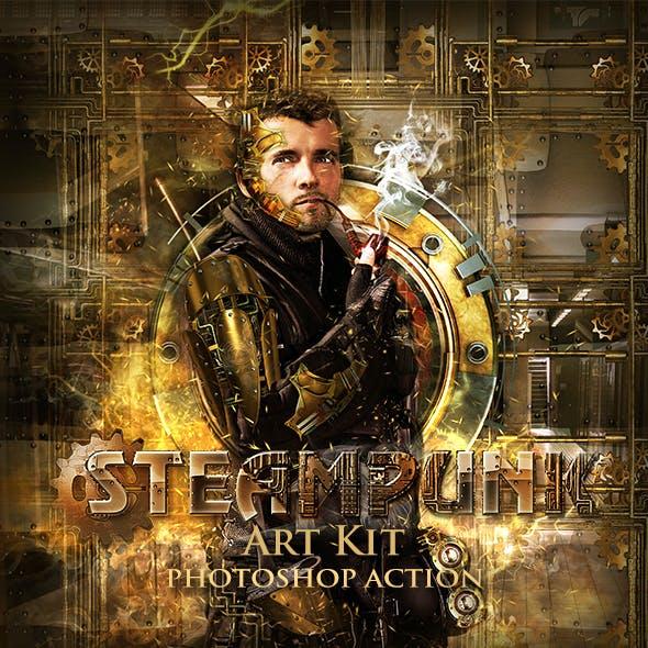 Steampunk Art Kit Photoshop Action