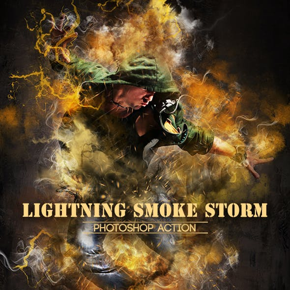Lightning Smoke Storm Photoshop Action