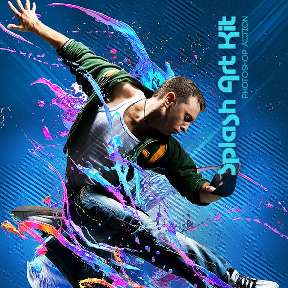 Splash Art Kit Photoshop Action