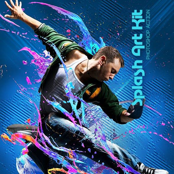 Splash Art Kit Photoshop Action