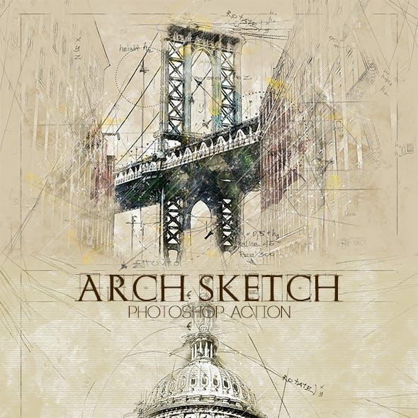 Arch Sketch Photoshop Action