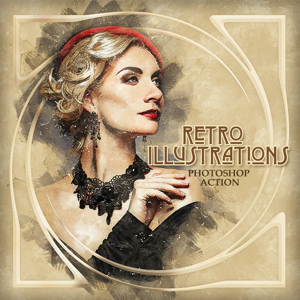 Retro Illustrations Photoshop Action