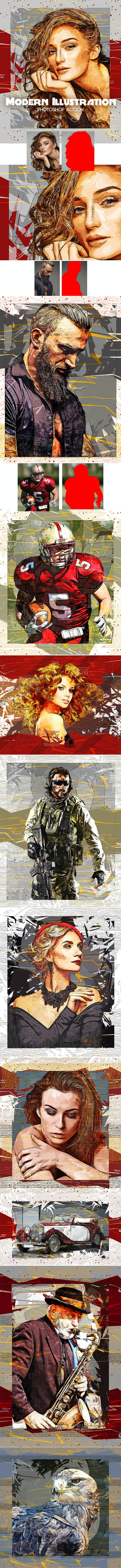 Modern Illustration Photoshop Action - Photo Effects Actions
