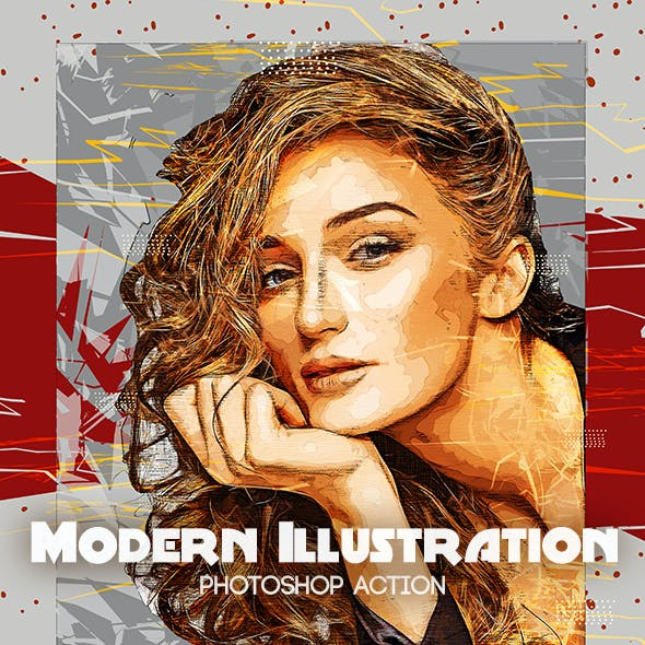 Modern Illustration Photoshop Action