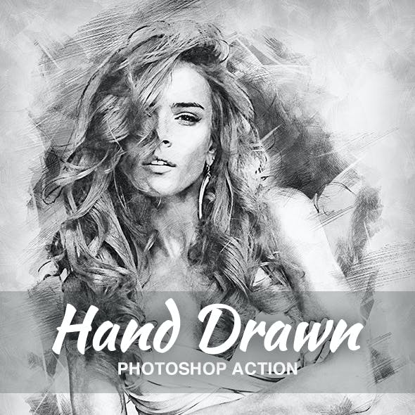 Hand Drawn Photoshop Action