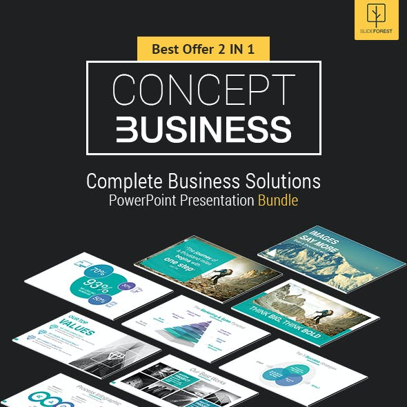 2 In 1 Concept Complete Business Solutions PowerPoint Templates Bundle