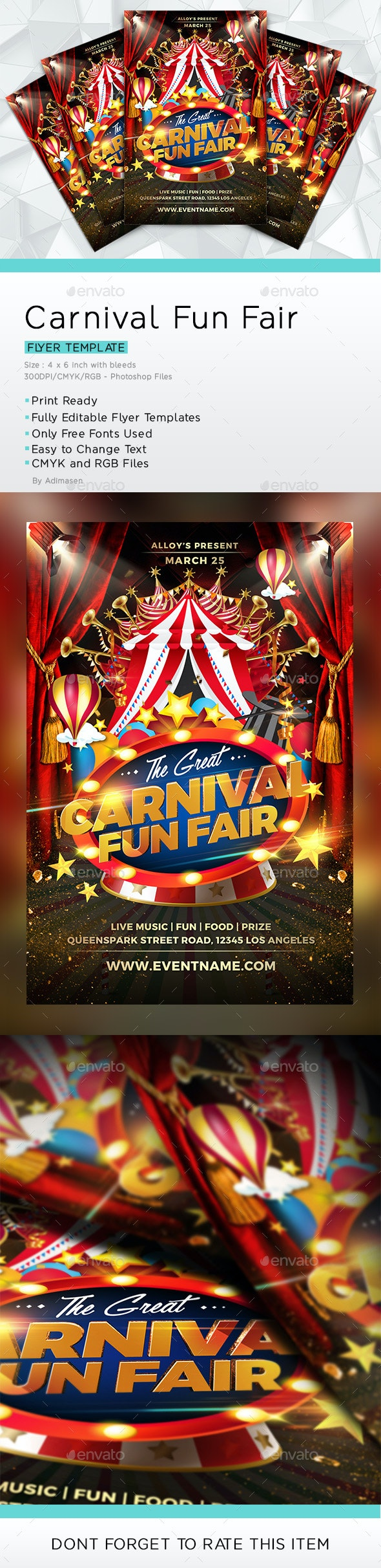Carnival Fun Fair Flyer - Events Flyers