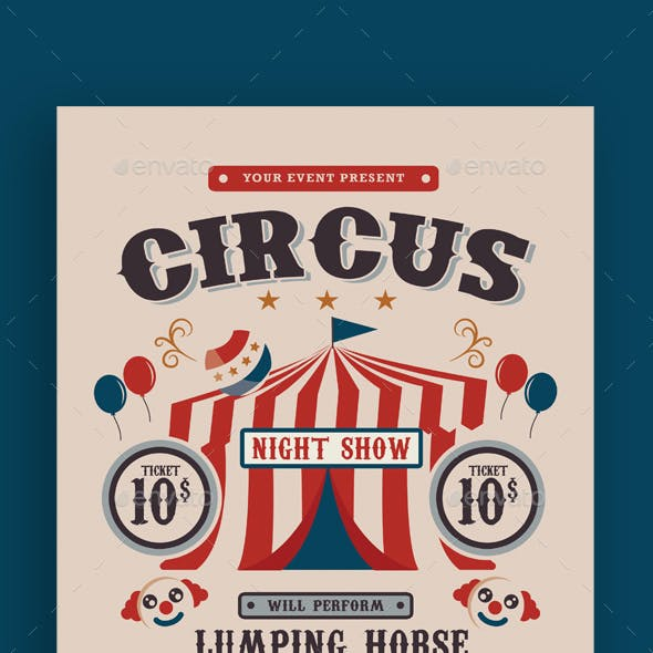 Circus Carnival Show Flyer