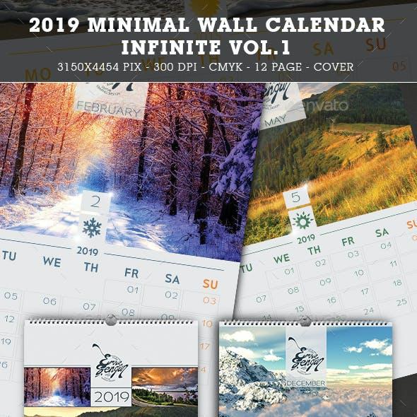 2019 - 2018 Calendar Minimal Wall Infinite Vol.1