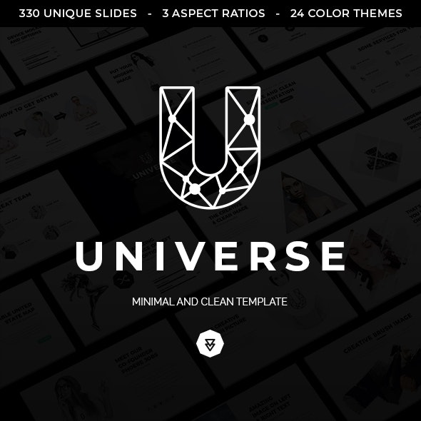 Universe Minimal and Clean Powerpoint Template - Business PowerPoint Templates