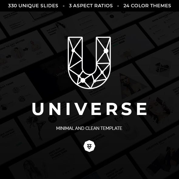 Universe Minimal and Clean Keynote Template