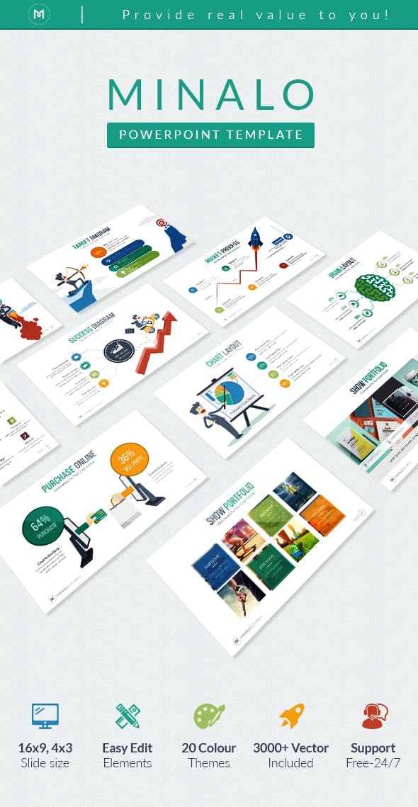 Minalo Business Powerpoint Template By Ocvembor Graphicriver