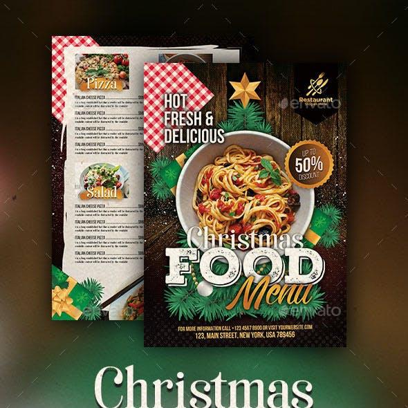 Christmas Food Menu Flyer