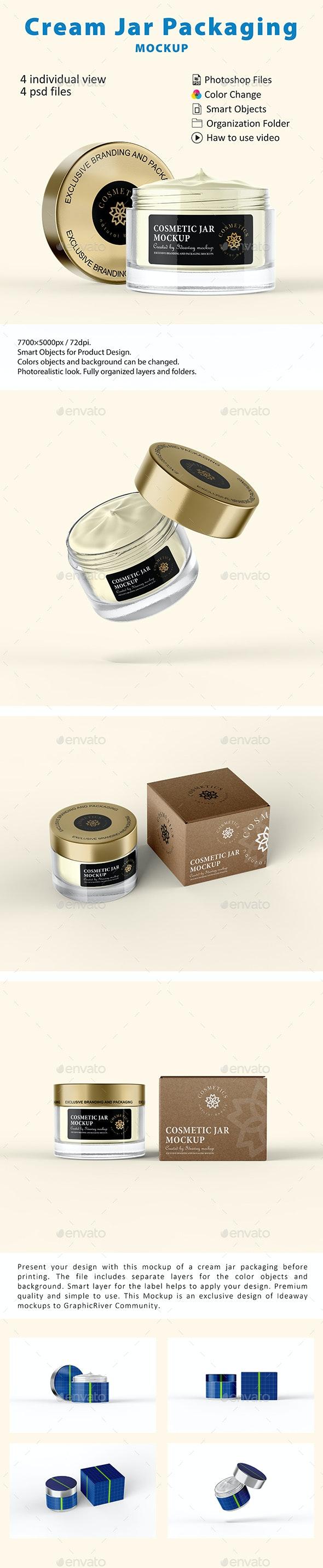 Cosmetic Cream Jar Packaging Mockup - Beauty Packaging