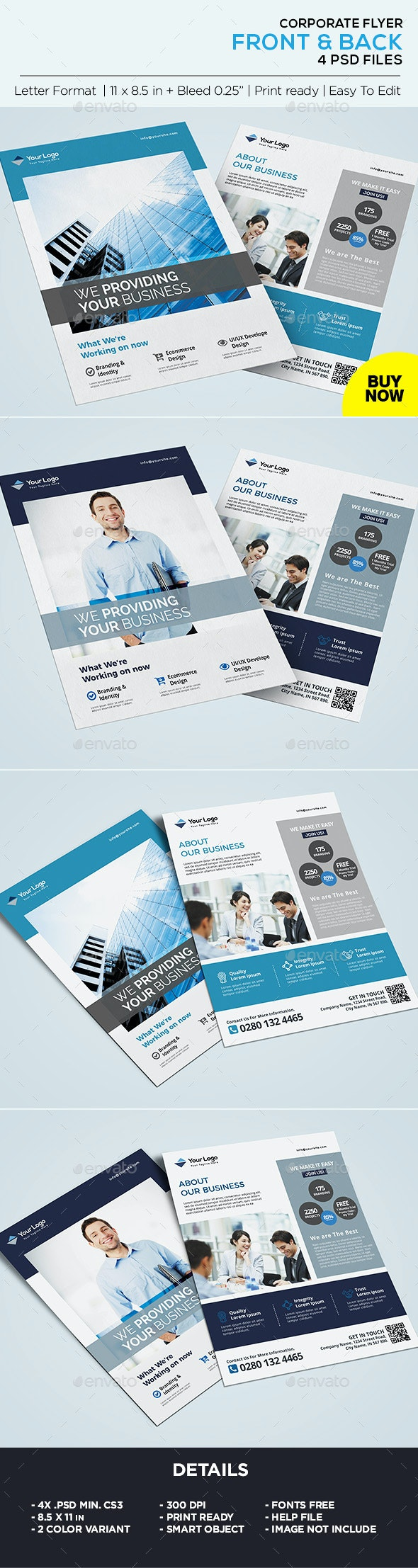 Corporate Flyer - Business Flyer Template - Corporate Flyers