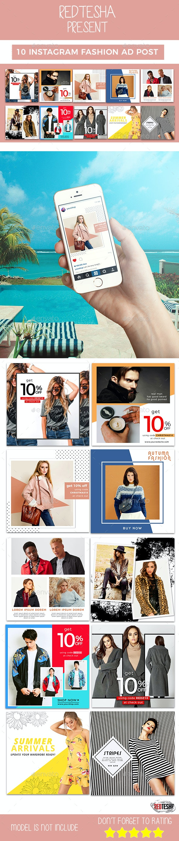 Instagram Fashion Banner #18 - Banners & Ads Web Elements
