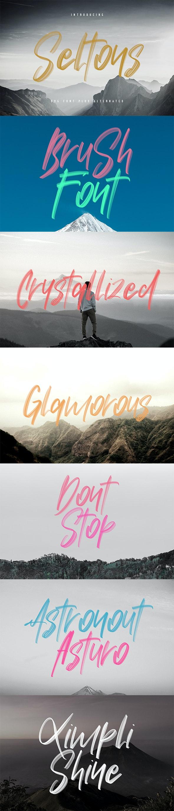 Seltons - SVG Font - Hand-writing Script