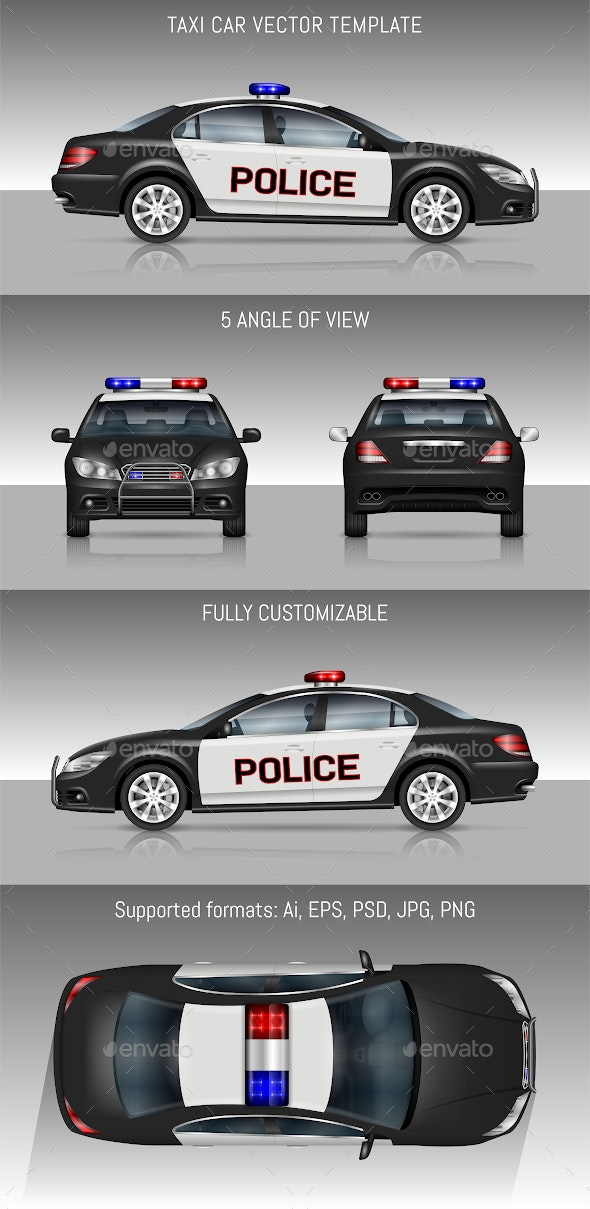 Police Car - Man-made Objects Objects