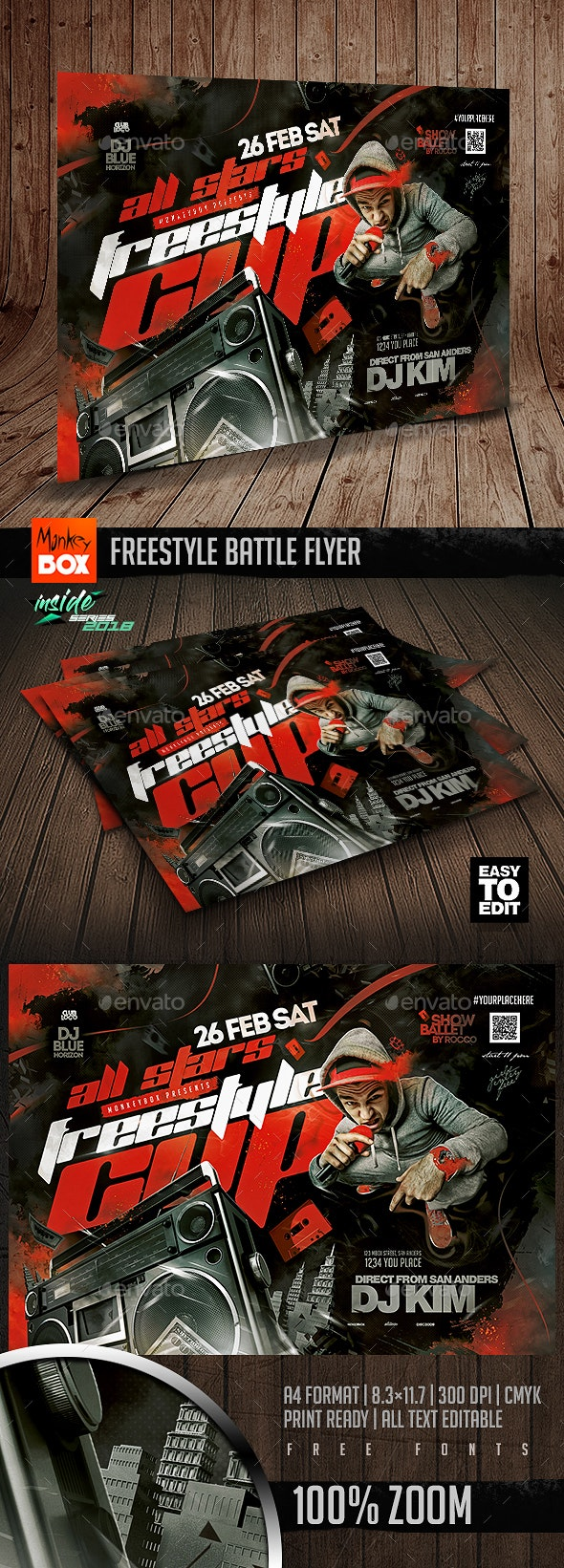 Freestyle Battle Flyer - Clubs & Parties Events