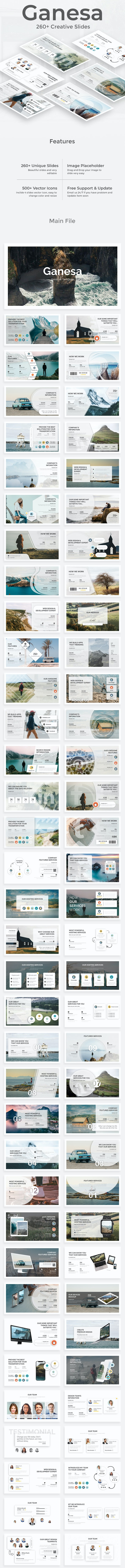 Ganesa Premium Google Slide Template - Google Slides Presentation Templates