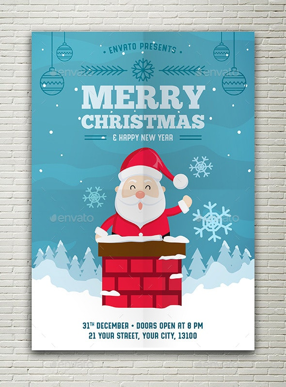 Christmas New Year Flyer - Flyers Print Templates