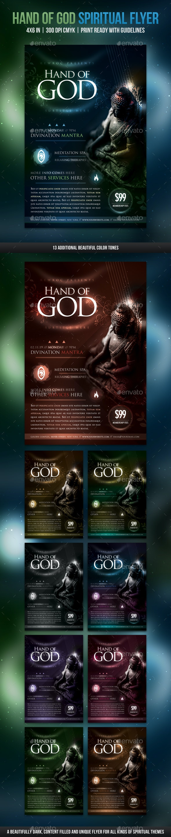 Hand Of God Spiritual Flyer - Miscellaneous Events