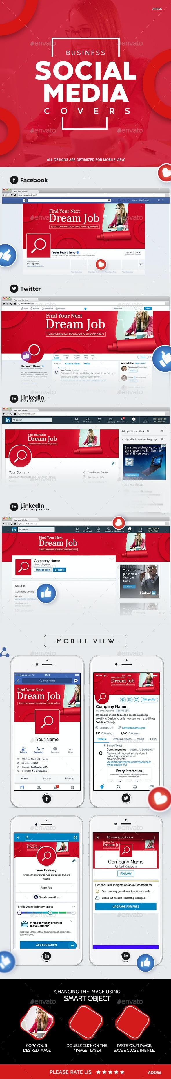 Business Social Media Cover Set - Miscellaneous Social Media