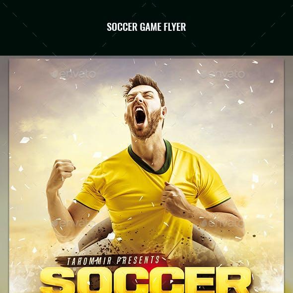 Soccer Game Flyer