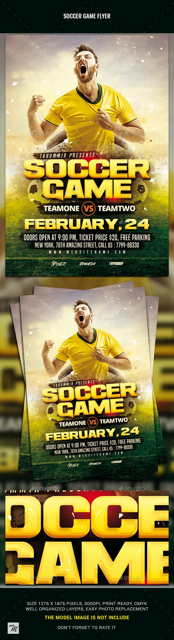 Soccer Game Flyer - Sports Events