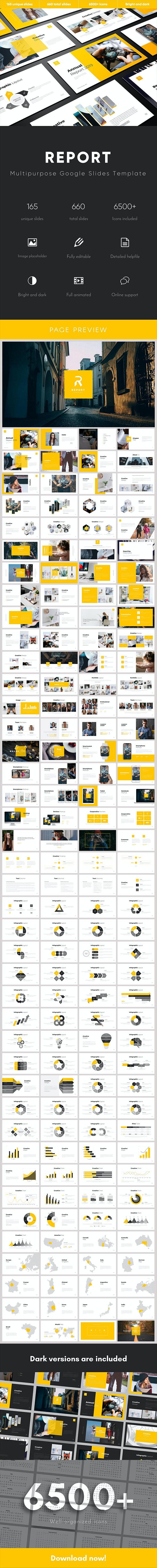 Report Multipurpose Google Slides Template - Google Slides Presentation Templates