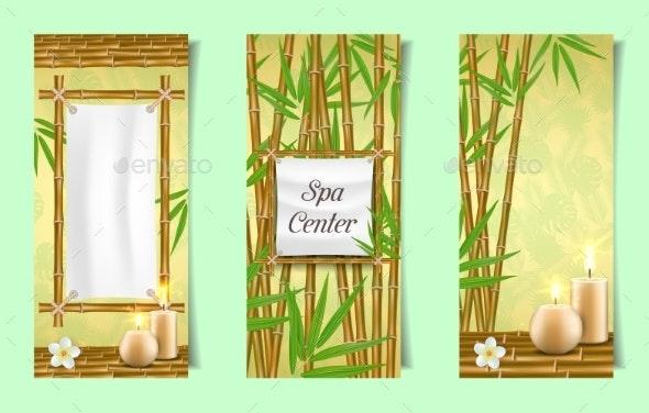 Spa Salon Bamboo Banner Set - Health/Medicine Conceptual
