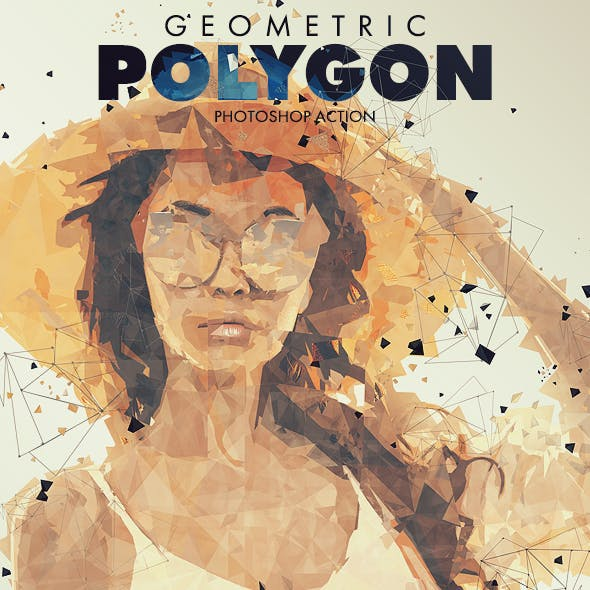 Geometric Polygon Photoshop Action