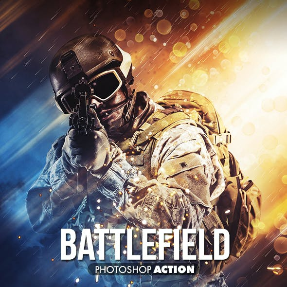 Battlefield Photoshop Action