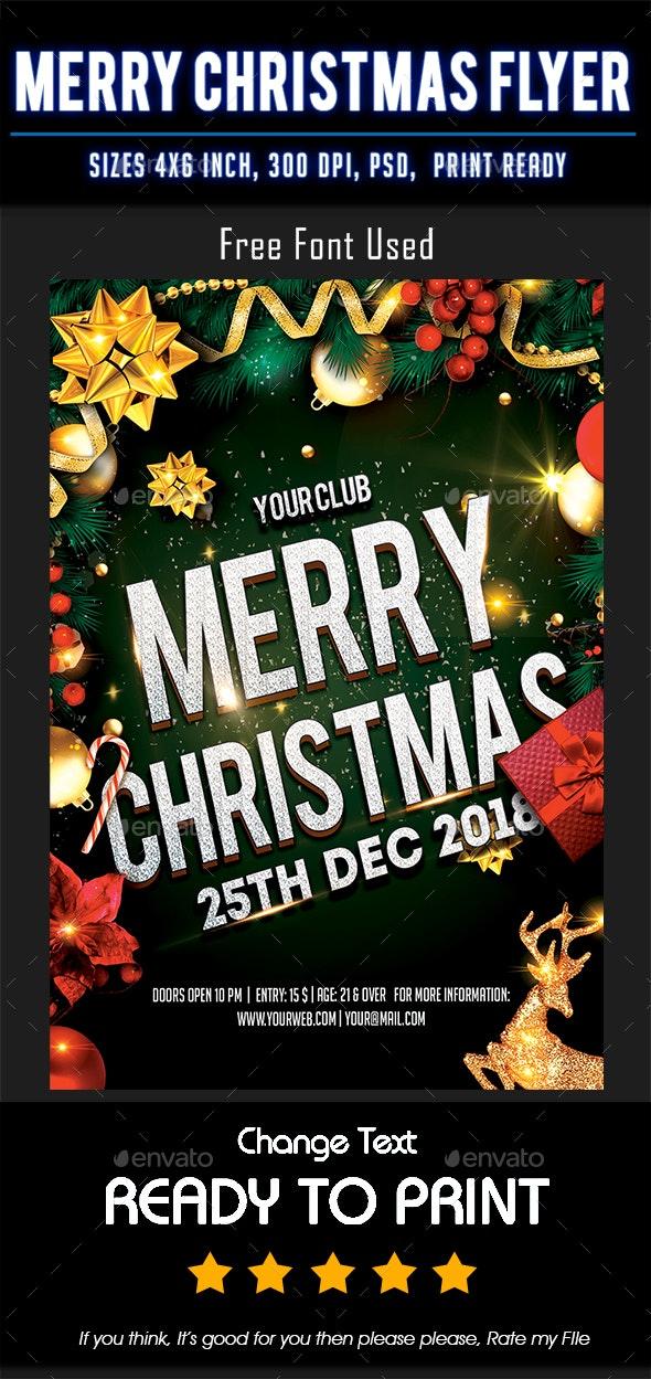 Merry Christmas Flyer - Flyers Print Templates