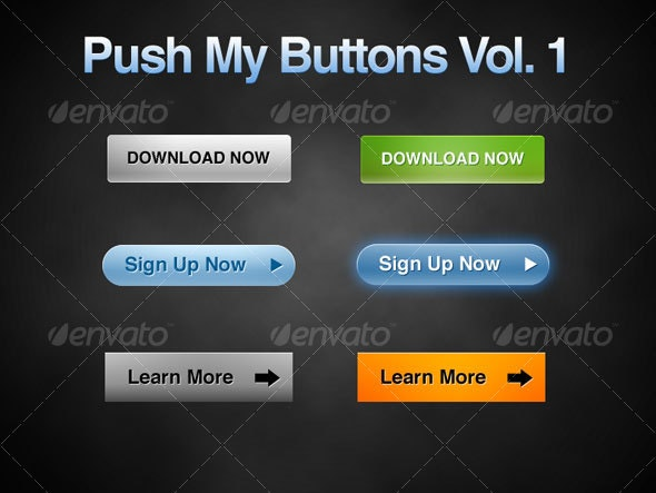 Push My Buttons Vol. 1 - Buttons Web Elements