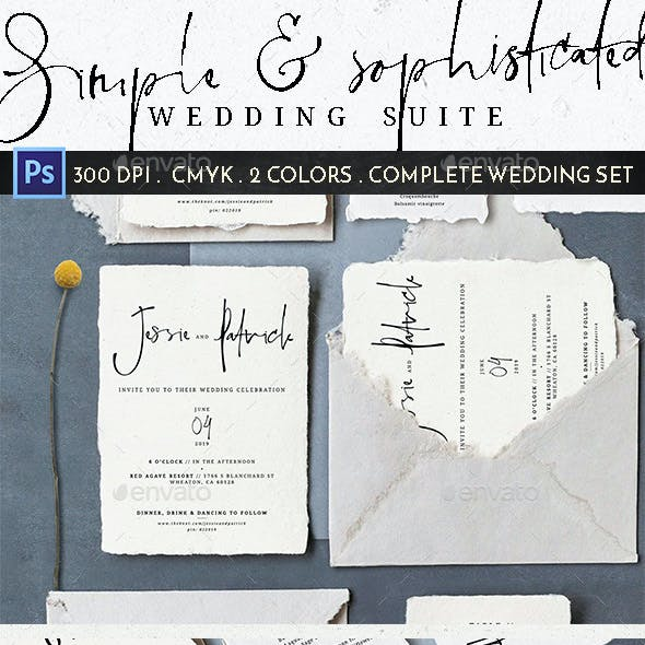 Simple Sophisticated Wedding Suite