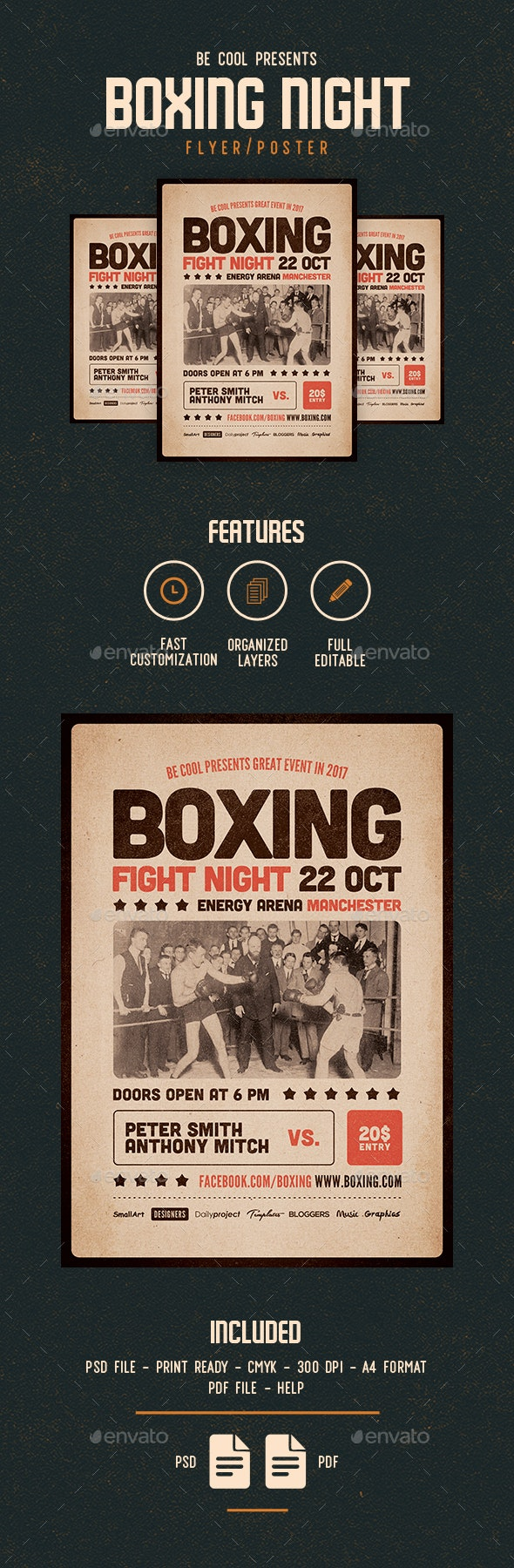 Boxing Flyer / Poster - Sports Events